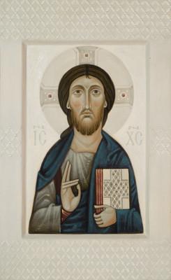Icon of Christ by Olga Shalamova