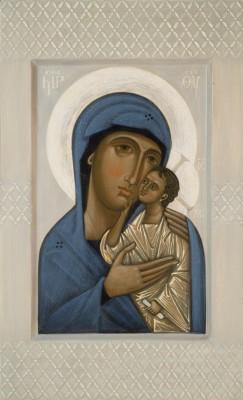 Icon the Mother of God Sosnovskaja  by Olga Shalamova