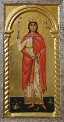 St Martyr Irina (St. Irene). 2008   wood, carving, gesso, egg tempera, gilding, silver riza with gilding |email|