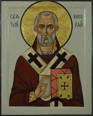 St Nicholas. 2009 by Philip Davydov   wood, gesso, egg tempera, gilding |email|