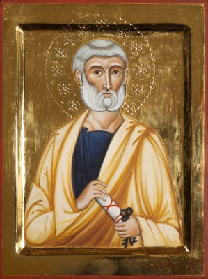 St Peter the Apostle. 2011  by Philip Davydov wood, gesso, egg tempera, gilding |email|
