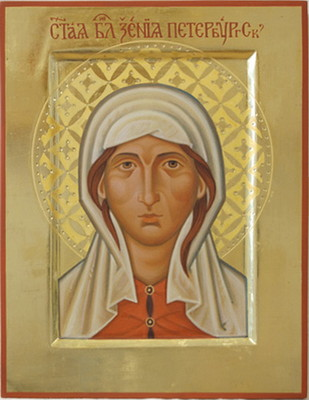 Xenia of Saint Petersburg. 2009 by Olga Shalamova wood, gesso, egg tempera, gilding |email|