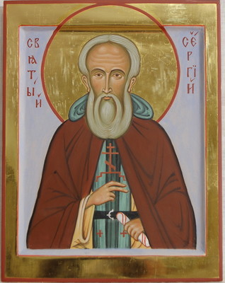 St  Sergius of Radonezh. 2009  by Philip Davydov wood, gesso, egg tempera, gilding |email|