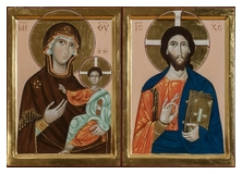 Dyptich icons of Christ and Theotokos. 2013