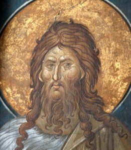 Saint John the Baptist. Model for Advanced Icon Painting Workshop.