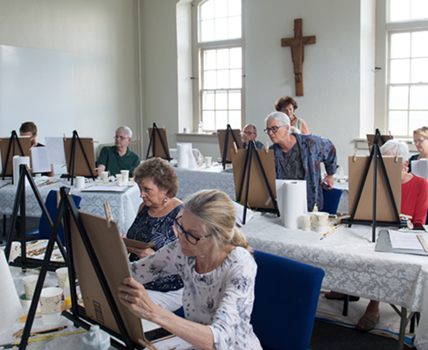 Icon Drawing Workshop in Holy Cross Monastery in West park NY
