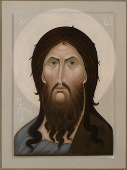 Icon of John the Baptist by Olga Shalamova