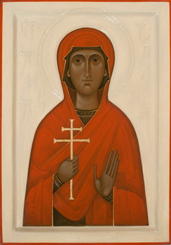 Icon of Saint Anastasia by OLga Shalamova