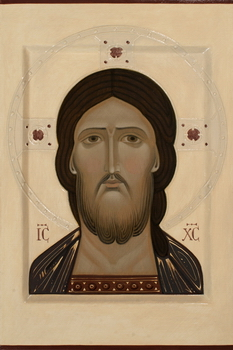 Icon of Christ 2017 by Olga Shalamova