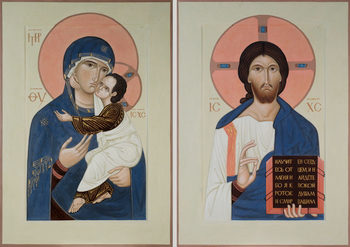 Icon for St. Leonid church in Il'ichevo by Philip Davydov