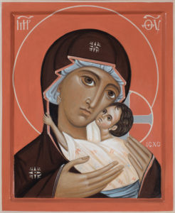 "Icon of The Mother of God ""Umilenie"" (Tenderness)"