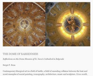 Reflections on the Dome Mosaics of St. Sava's Cathedral in Belgrade