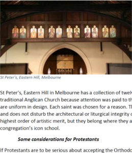 Eastern Iconography in the contemporary Protestant West