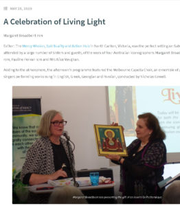 A Celebration of Living Light. Exhebition and a Reception