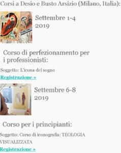 Corsi fi iconografia a Milano Italia