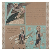 Graphic work Joseph's Dream and Flight to Egypt