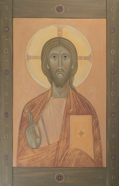 Icon of Christ, 2016 by Olga Shalamova