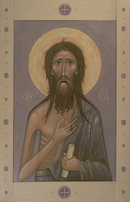 Icon of Saint John the Baptist, 2016 by Olga Shalamova