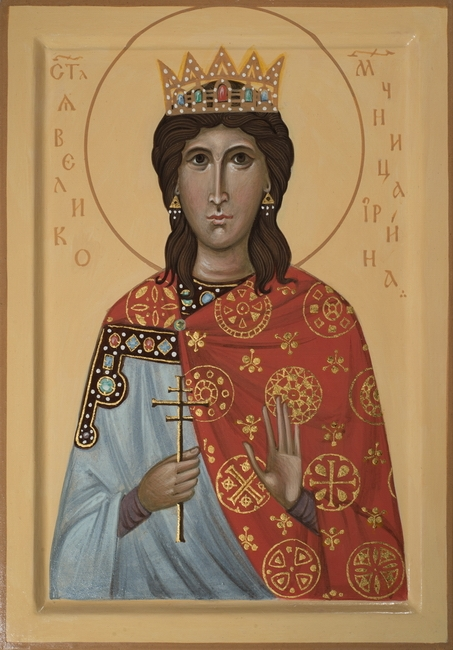 Icon of Saint Irina, 2016 by Philip Davydov