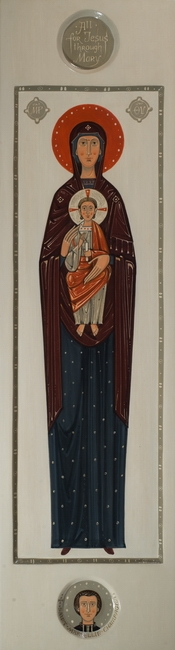 Icon of Our Lady with Christ Child for Marist Brothers, 2016 by Olga Shalamova