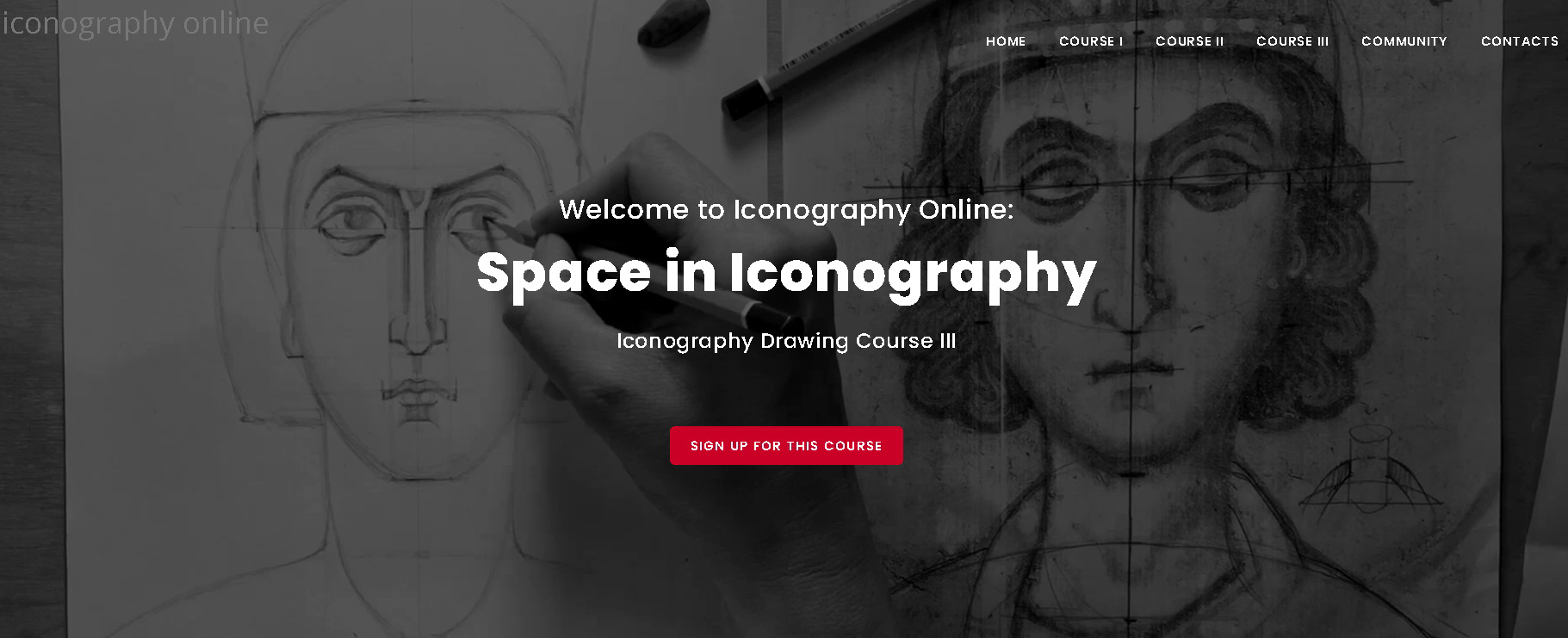 Online Iconography Drawing Course Space in Iconography