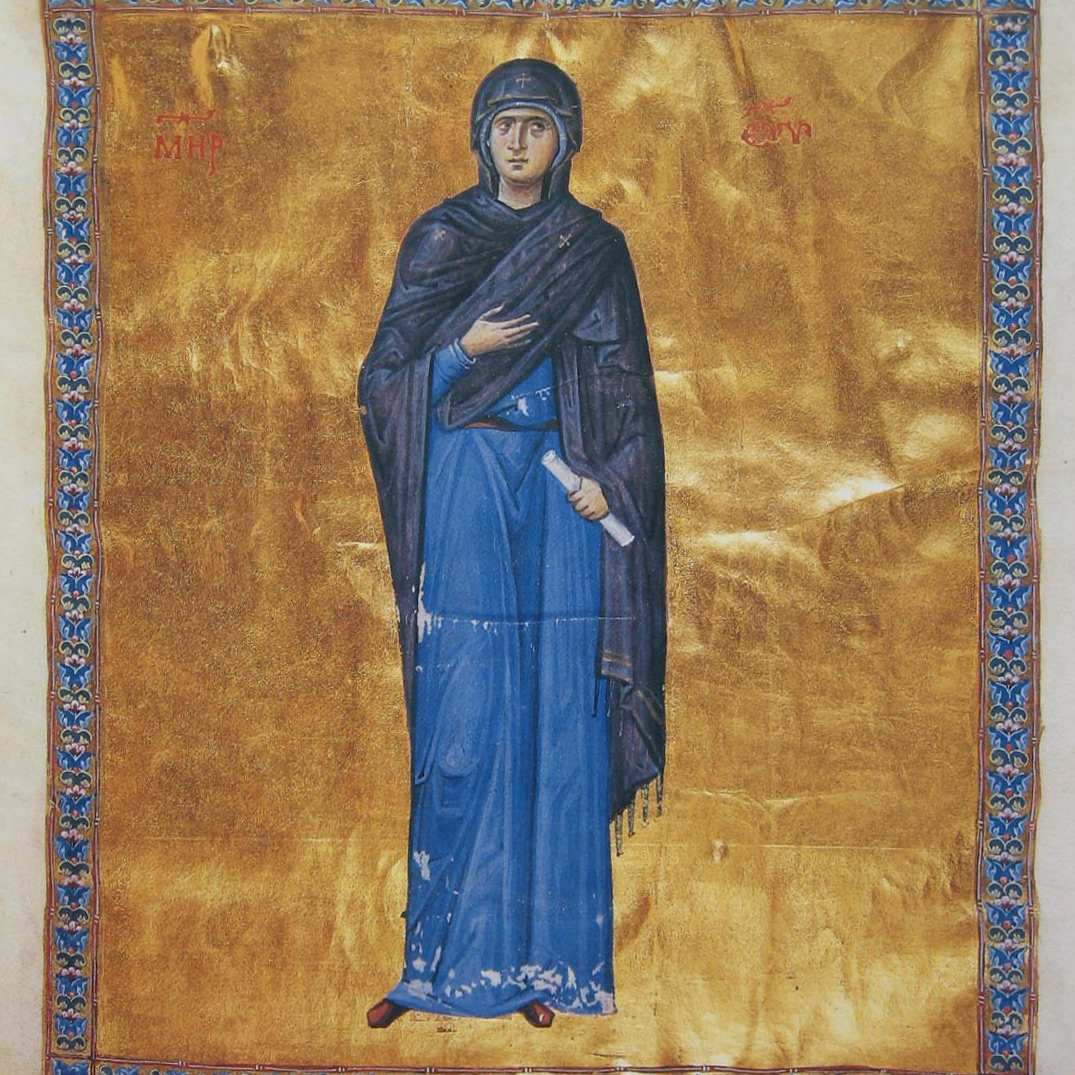 Image of the Mother Of God - model for Icon Painting Workshop
