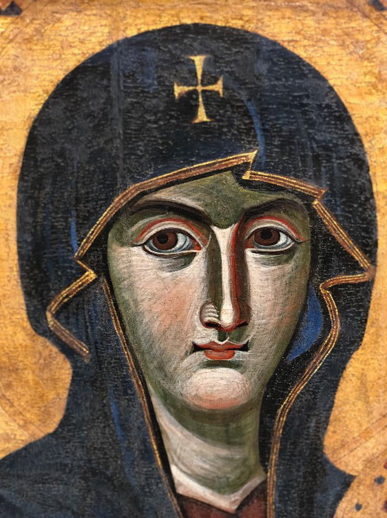 Icon Painting Workshop model - Icon of the Mother of God Salus Populi Romani (detail)