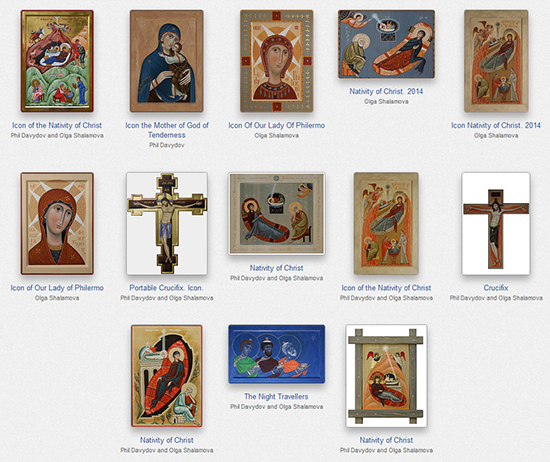 Icon prints, Christmas Cards